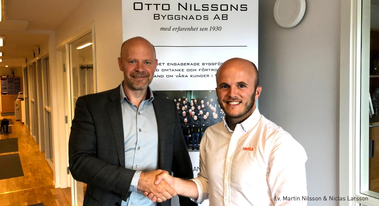 Otto Nilssons Byggnads AB och Renta har skrivit ett heltäckande avtal